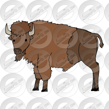 svg library stock Clipart buffalo. Picture for classroom therapy.