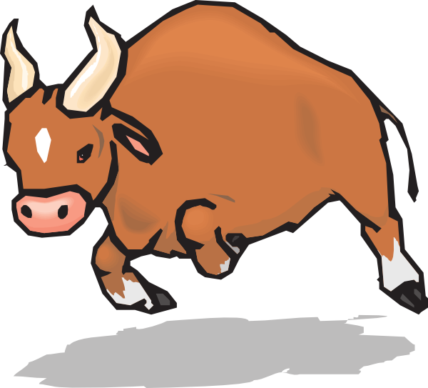 picture free stock Ox clipart. Charging bull clip art