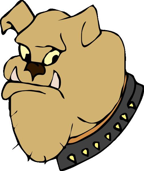 graphic free download Cartoon Bulldog Head Clip Art at Clker