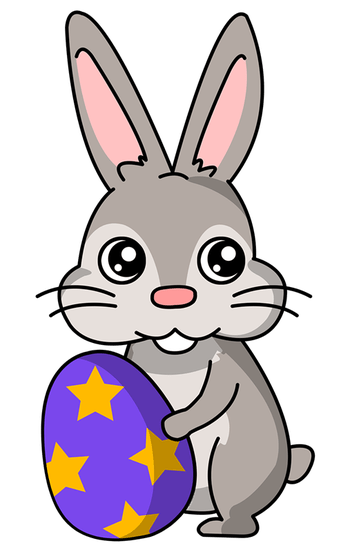 vector Easter bunny free download. Bunnies clipart simple