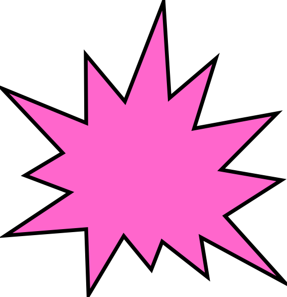 clip art stock Pink Star Burst Clip Art at Clker