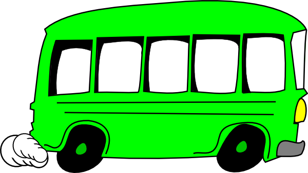 picture stock Vector bus tourist. Green clip art at