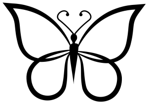 picture freeuse library Clipart butterfly black and white.  free download.