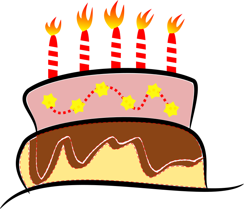 jpg transparent stock Free Birthday Cake Clipart