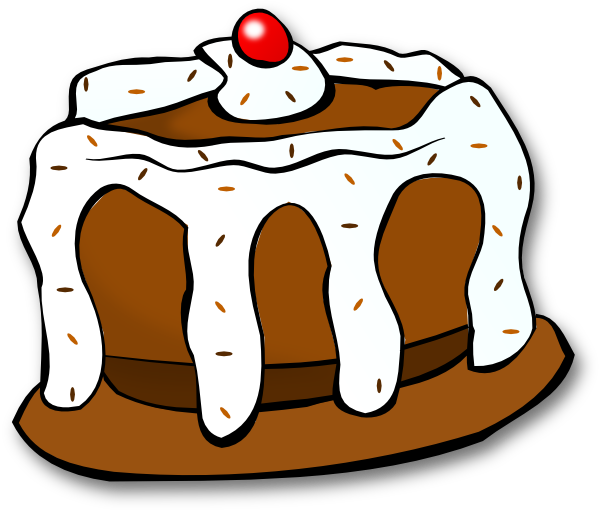 svg royalty free Clip art at clker. Dessert clipart chocolate cake