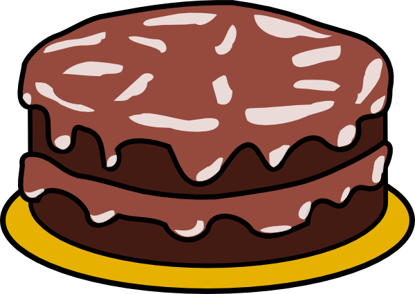 clip library download Chocolate Cake With No Candles Clip Art at Clker