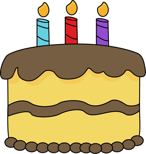 freeuse library Yellow birthday cake clip. Baked goods clipart cute.