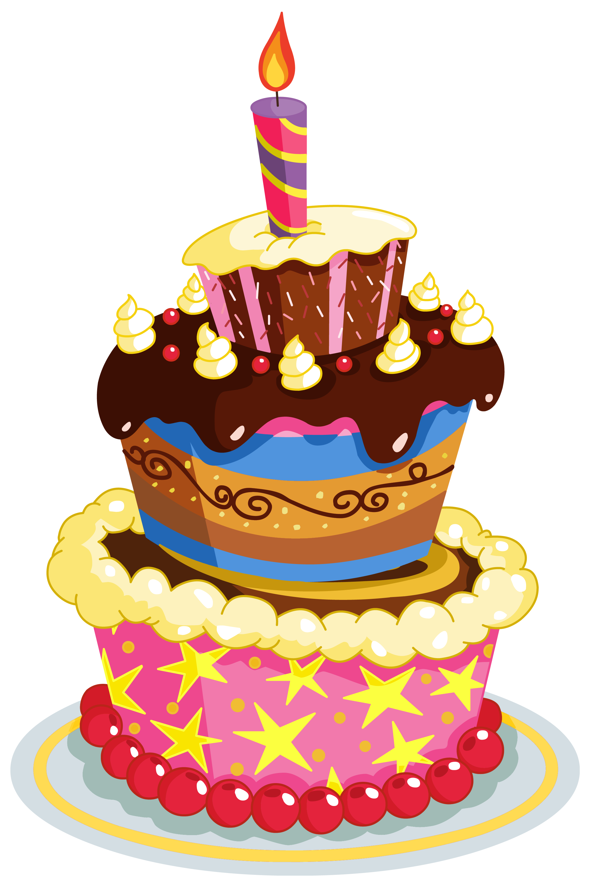 jpg library download Desserts clipart homemade cake. Colorful birthday png clip.