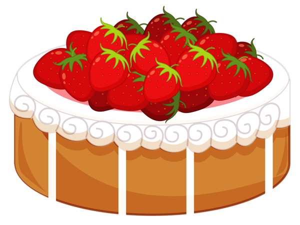 picture free library Desserts clipart pastry. Cake with strawberries png.