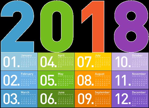 clipart stock  transparent calendar png. January 2018 clipart.