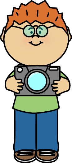 jpg free library Boy with a camera. Kid photographer clipart