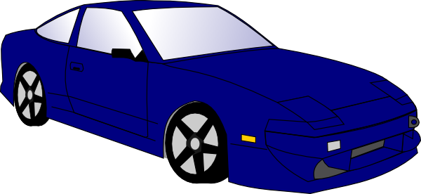 vector black and white Blue Car Clip Art at Clker