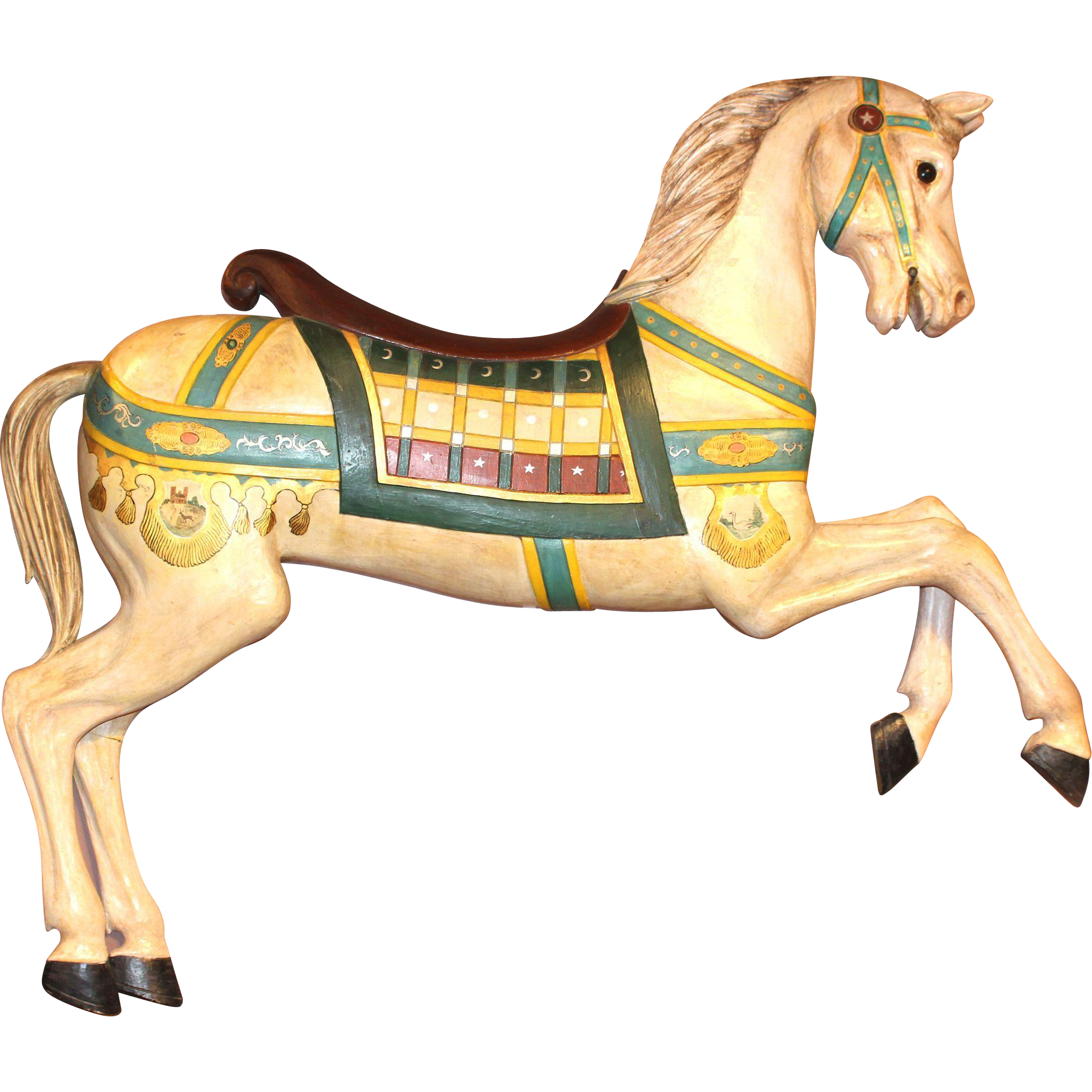 clip art royalty free download Clipart carousel horse. Polychrome decorated prancer frederick.