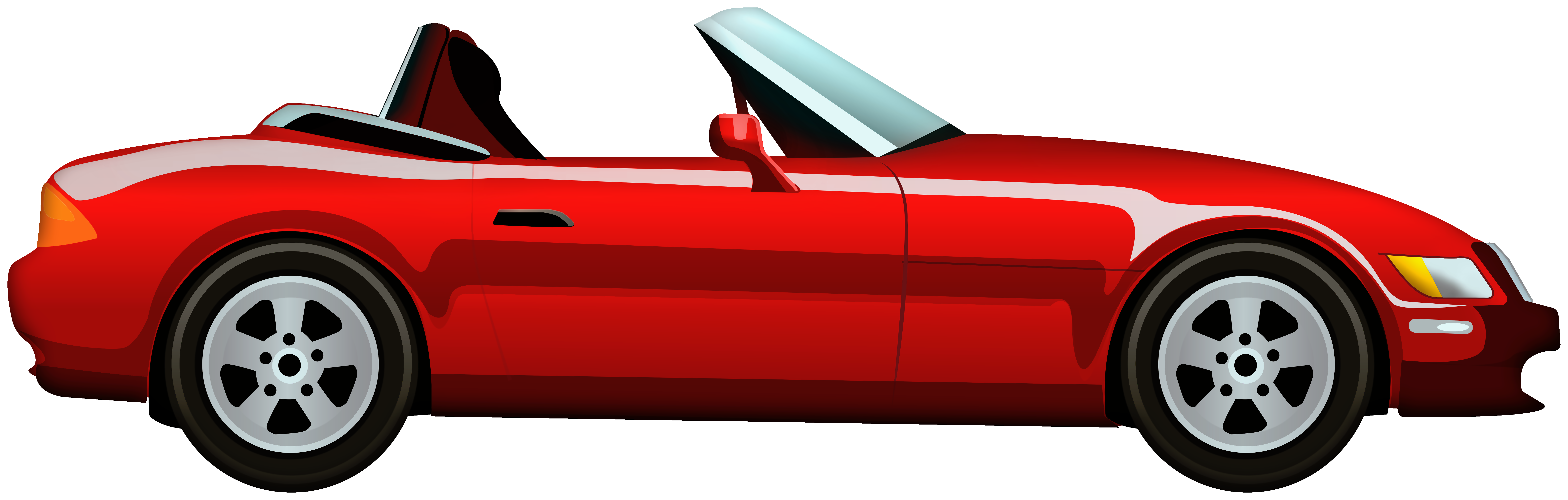 picture transparent download Clipart cars. Red cabriolet car png.