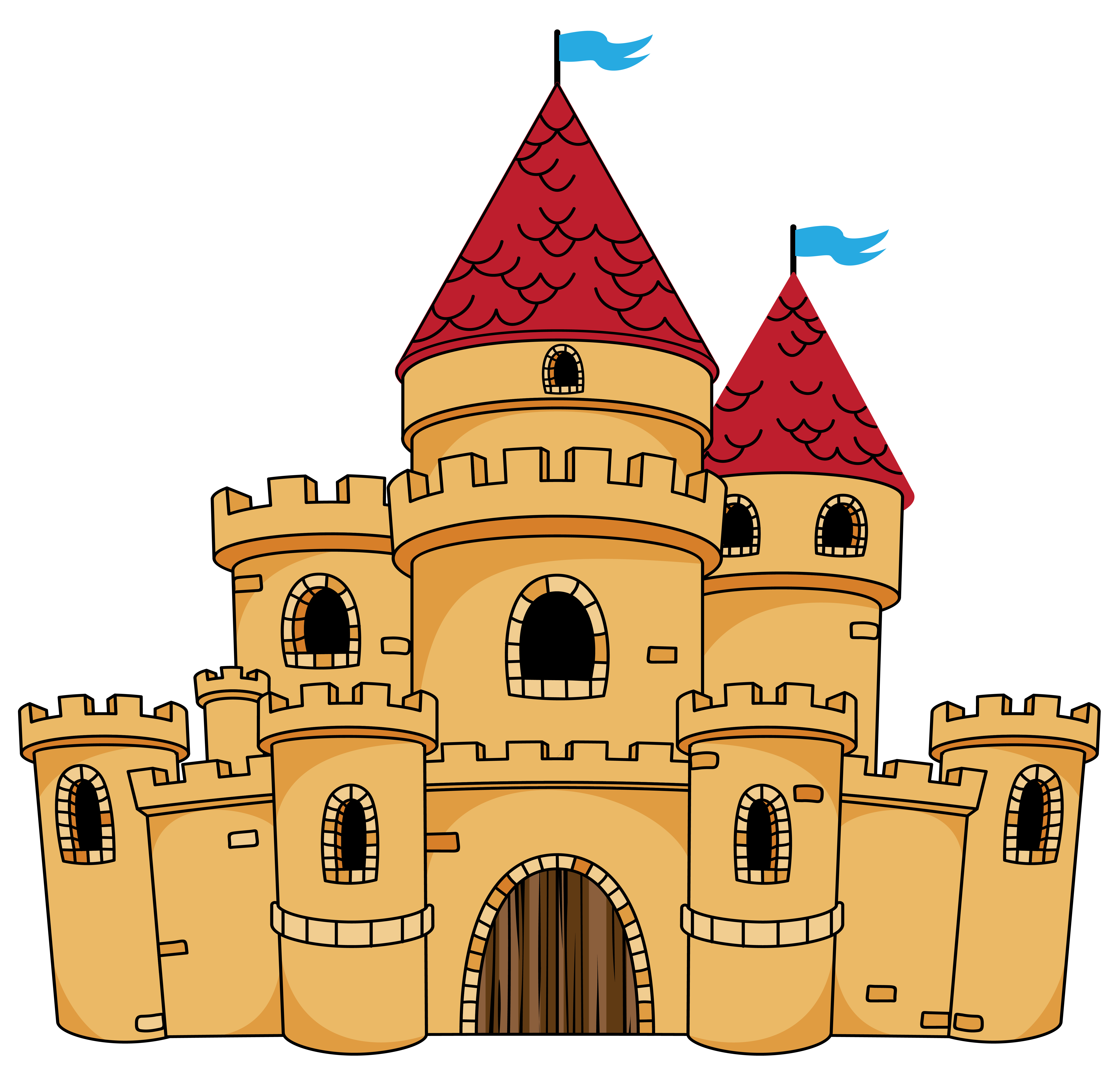 vector library stock Castle clipart cute FREE for download on rpelm