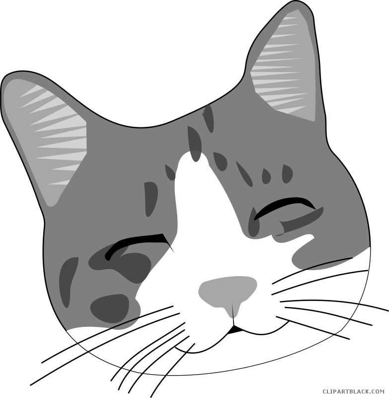 banner free stock Face clipart black and white. Cat page of clipartblack