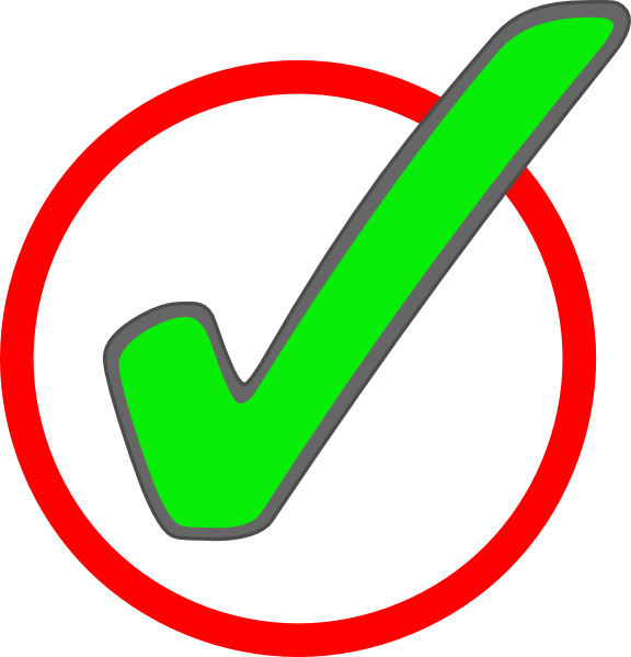 banner stock Green Check Mark In Circle