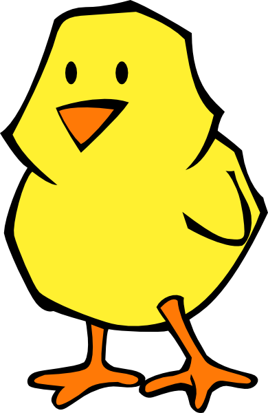 picture free stock Chick Flat Colors Clip Art at Clker