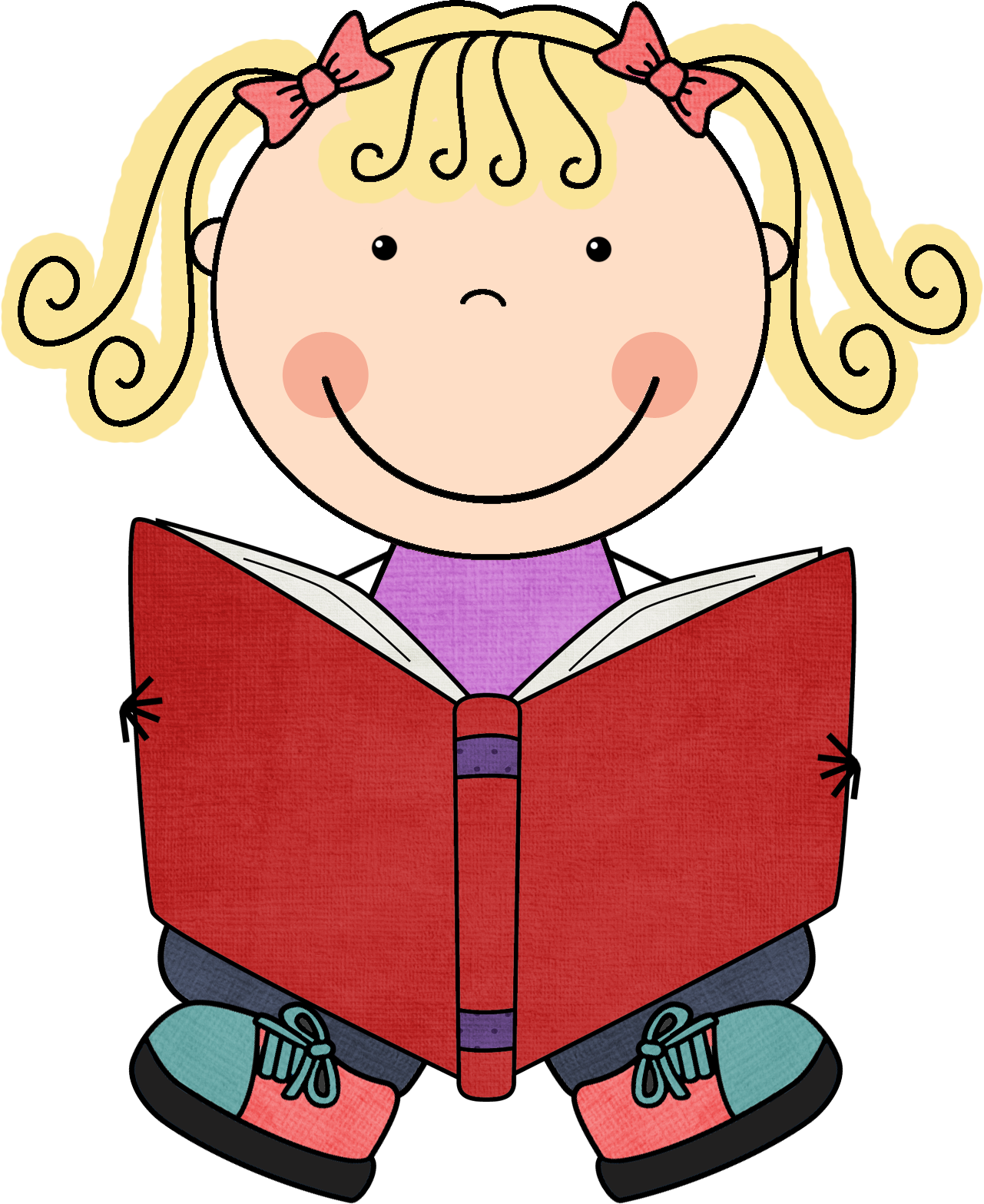 graphic download Reading clipart for kids.  collection of png.