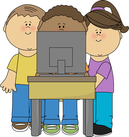 image transparent Kids using computer clip. School kid clipart