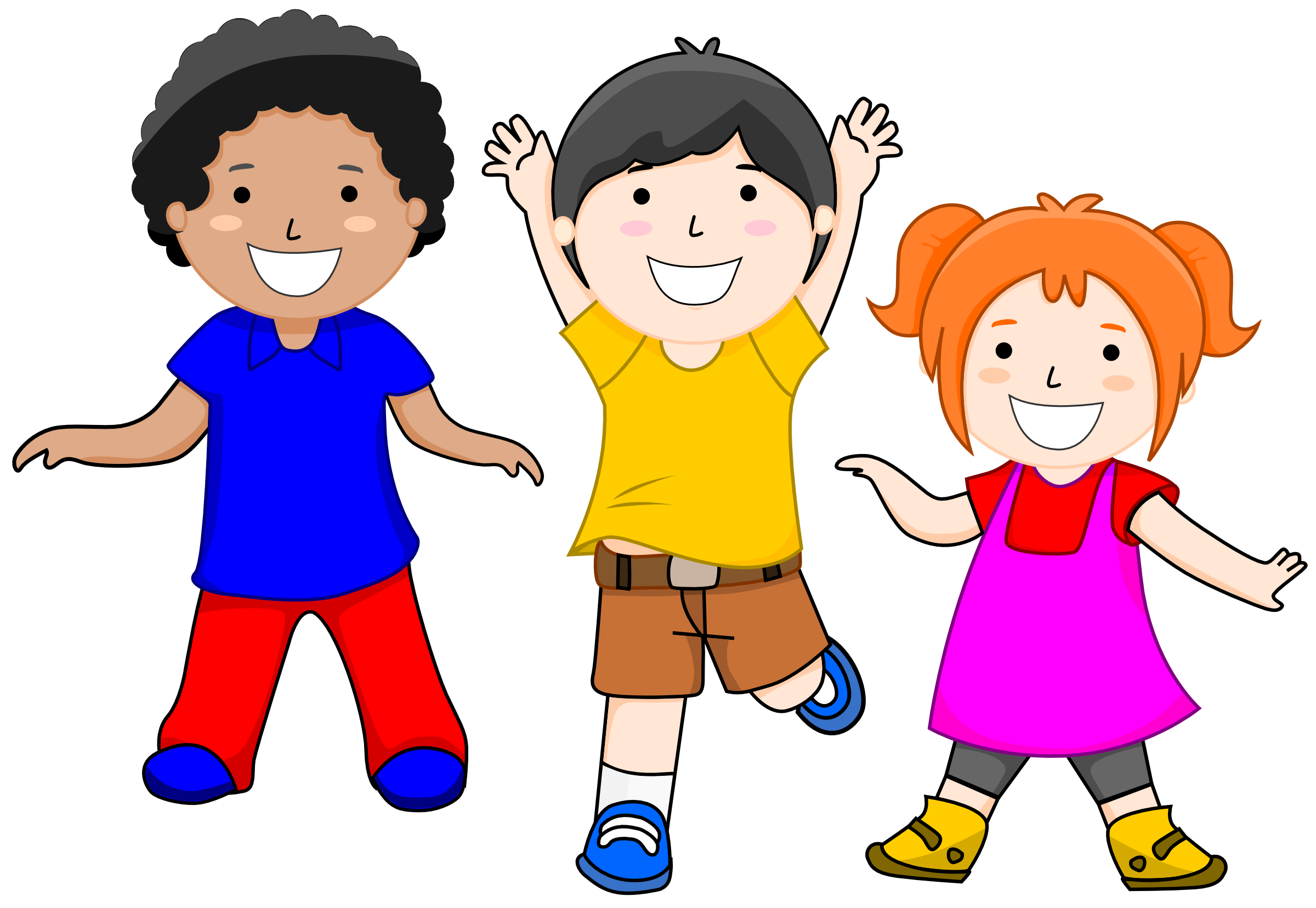 graphic royalty free Clipart kids.  collection of happy
