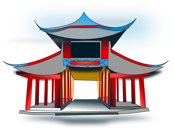 image royalty free download Chinese Architecture Clip Art at Clker