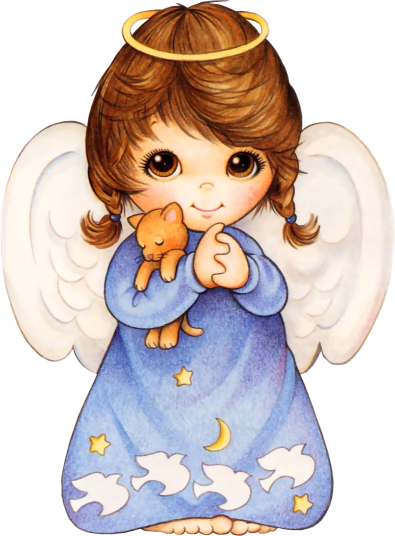 png free Yes clipart cute. Angel with kitten png
