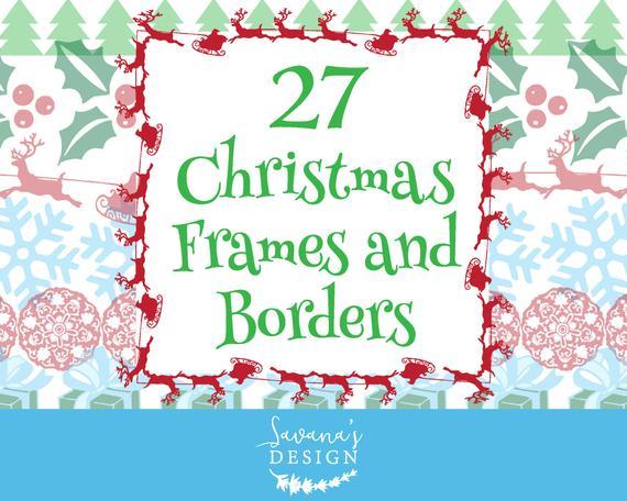 image library Clipart christmas borders. Border holiday digital crafts