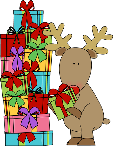 vector black and white Clipart christmas presents. Fun for