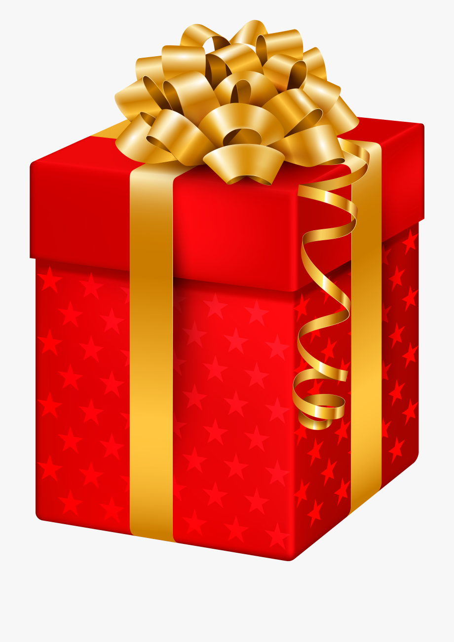 picture free stock Clipart christmas presents. Red gift box with