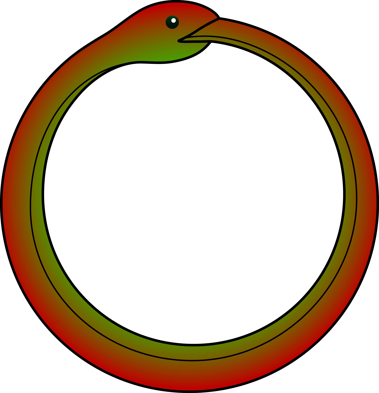 image library stock Serpent symbol free clip. Ouroboros vector