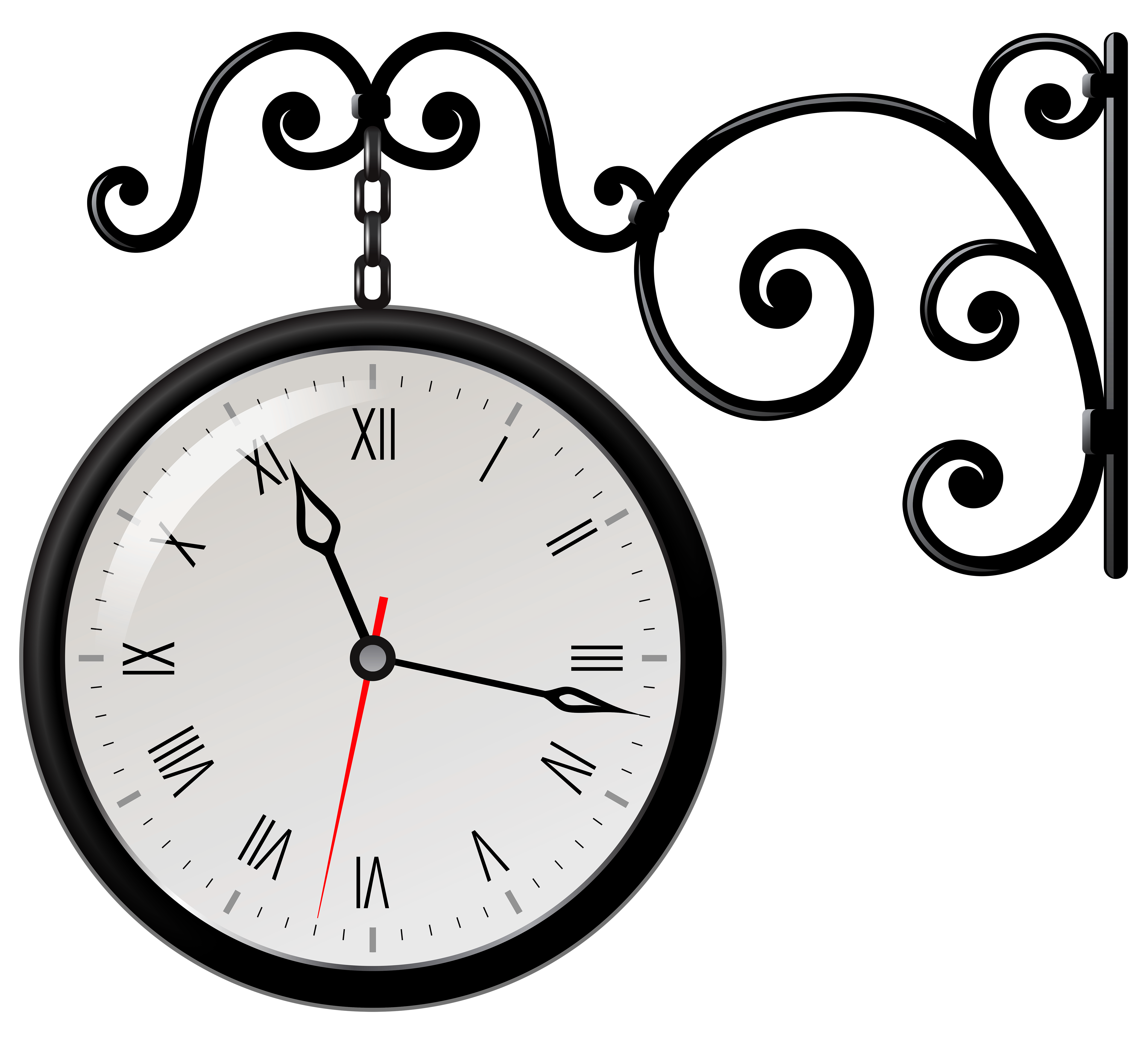 image library Clock png clip art. Wall street clipart