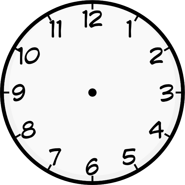 clipart freeuse clock template printable