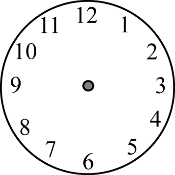 clip free download Clock Face without Hands Clip Art