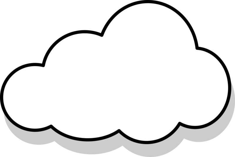 banner black and white download clouds clipart transparent background #57218616