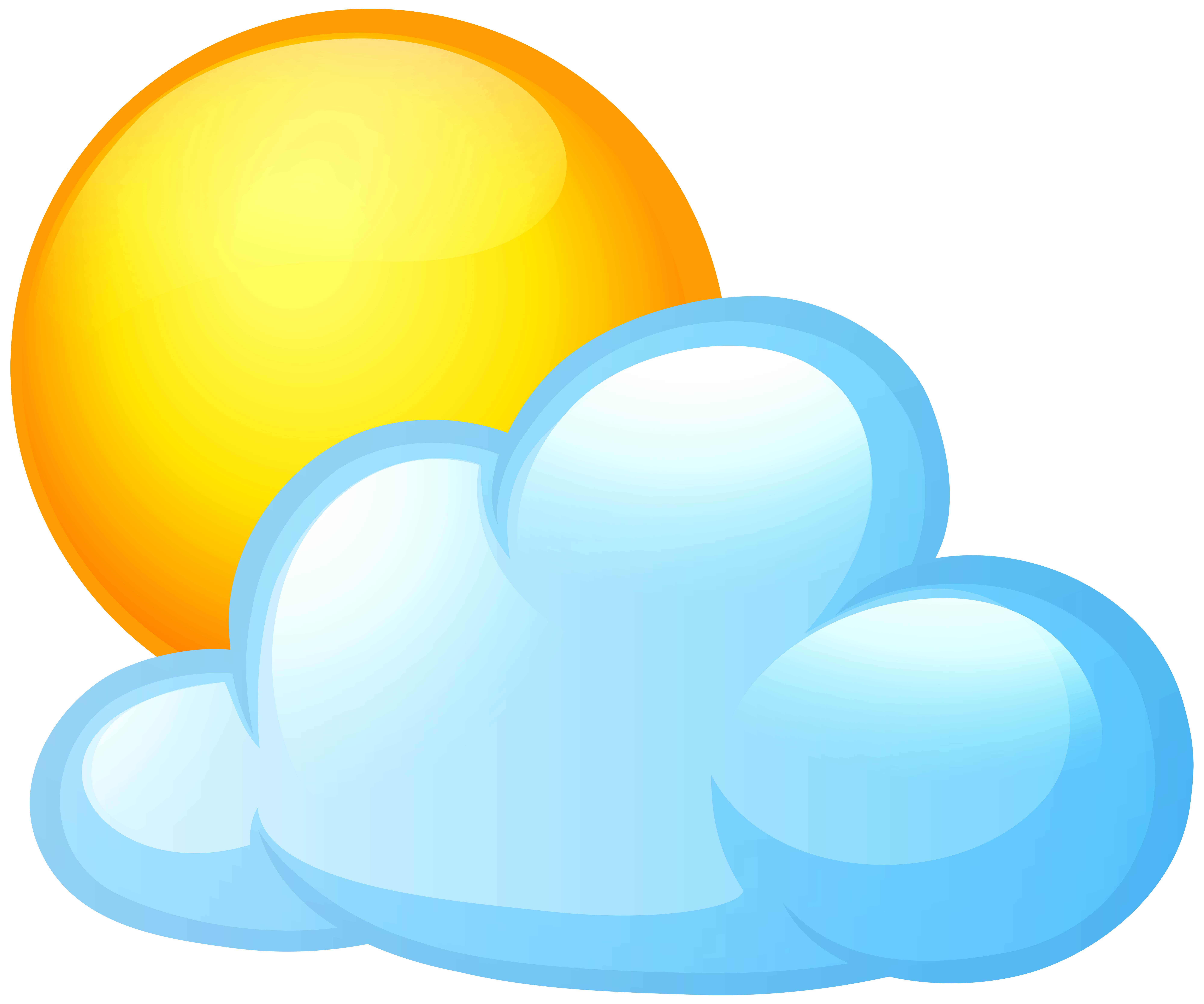 jpg royalty free And cloud png clip. Sun with clouds clipart