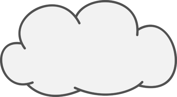 banner library Drawn Cloud transparent background