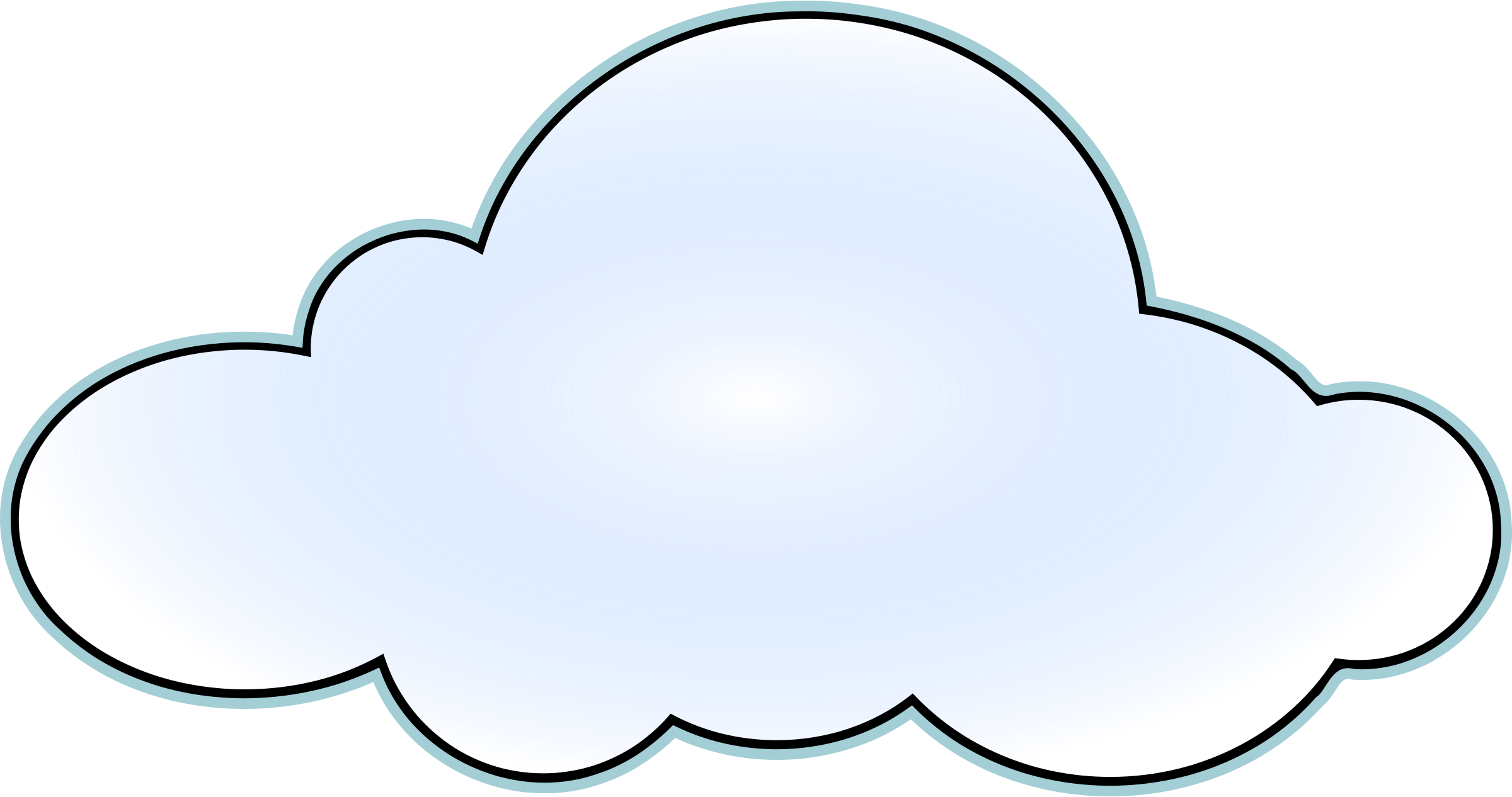 jpg royalty free stock Top cloud clip art. Great clipart black and white