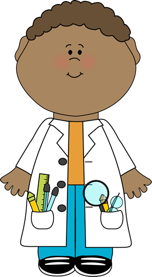 graphic library stock Drawing store kid. Child scientist clip art