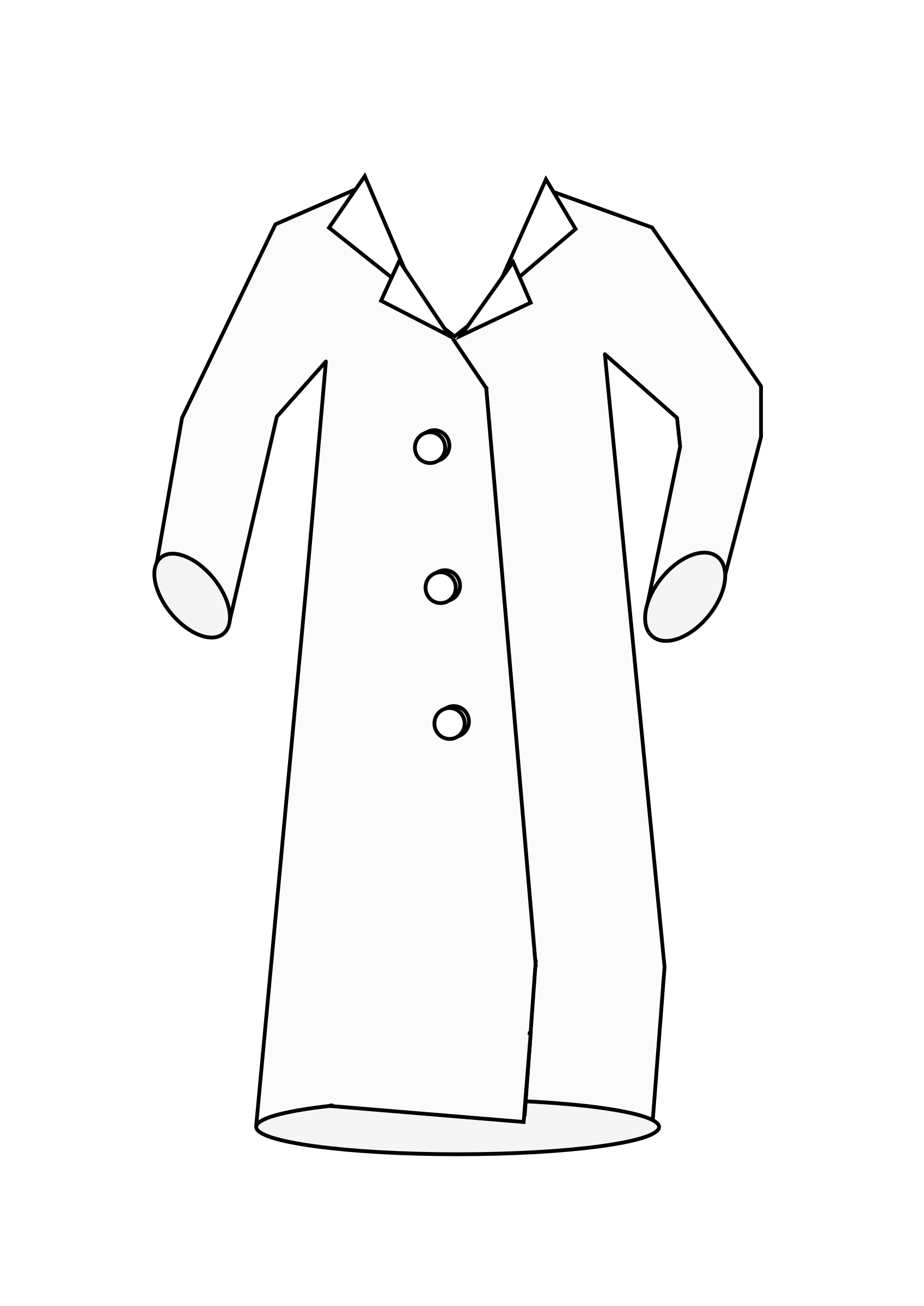svg library download Vector doctor coat. Clipart laboratory big image