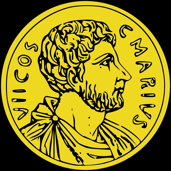 vector library Roman Money Clipart