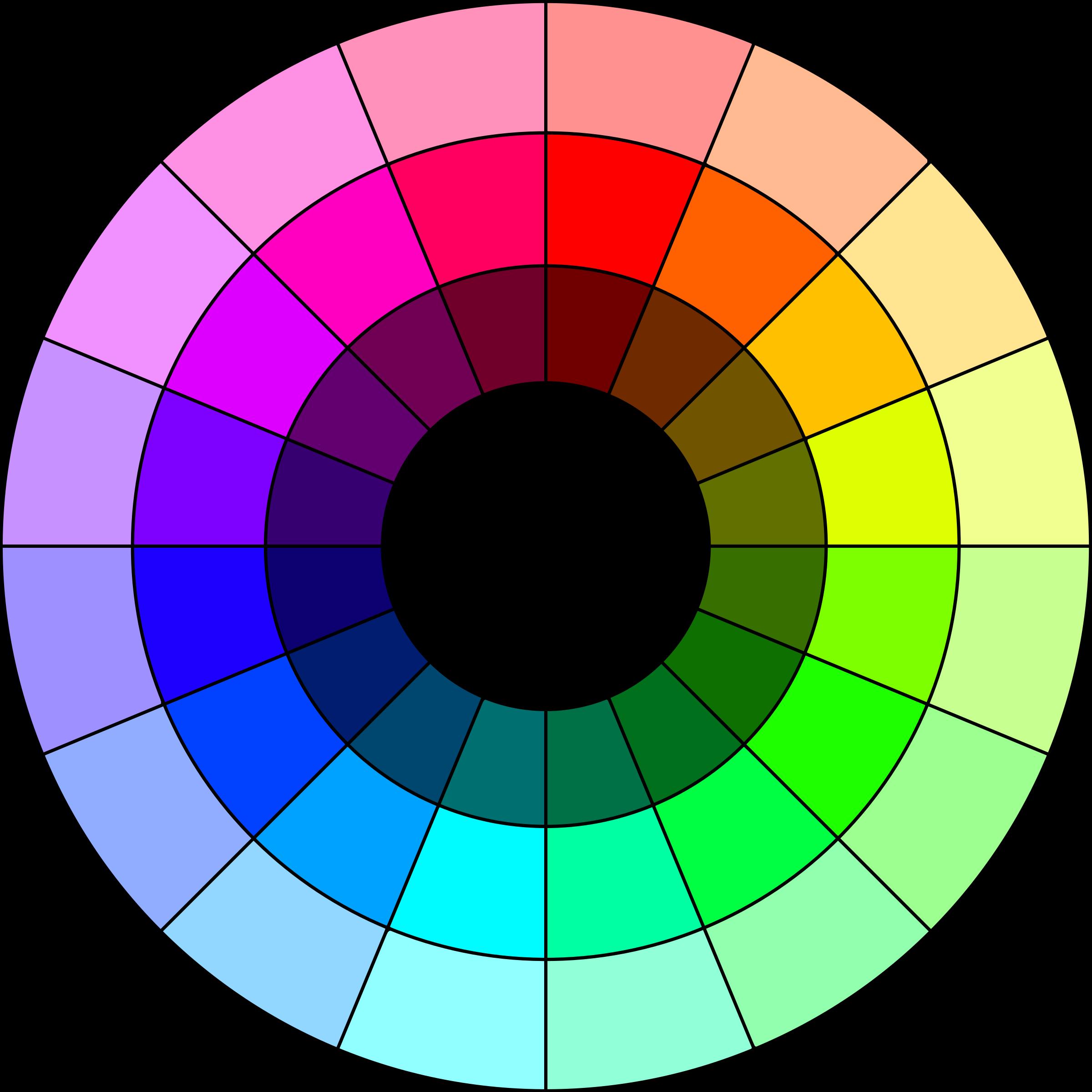 graphic transparent Color wheel clipart. Colors xh xl big