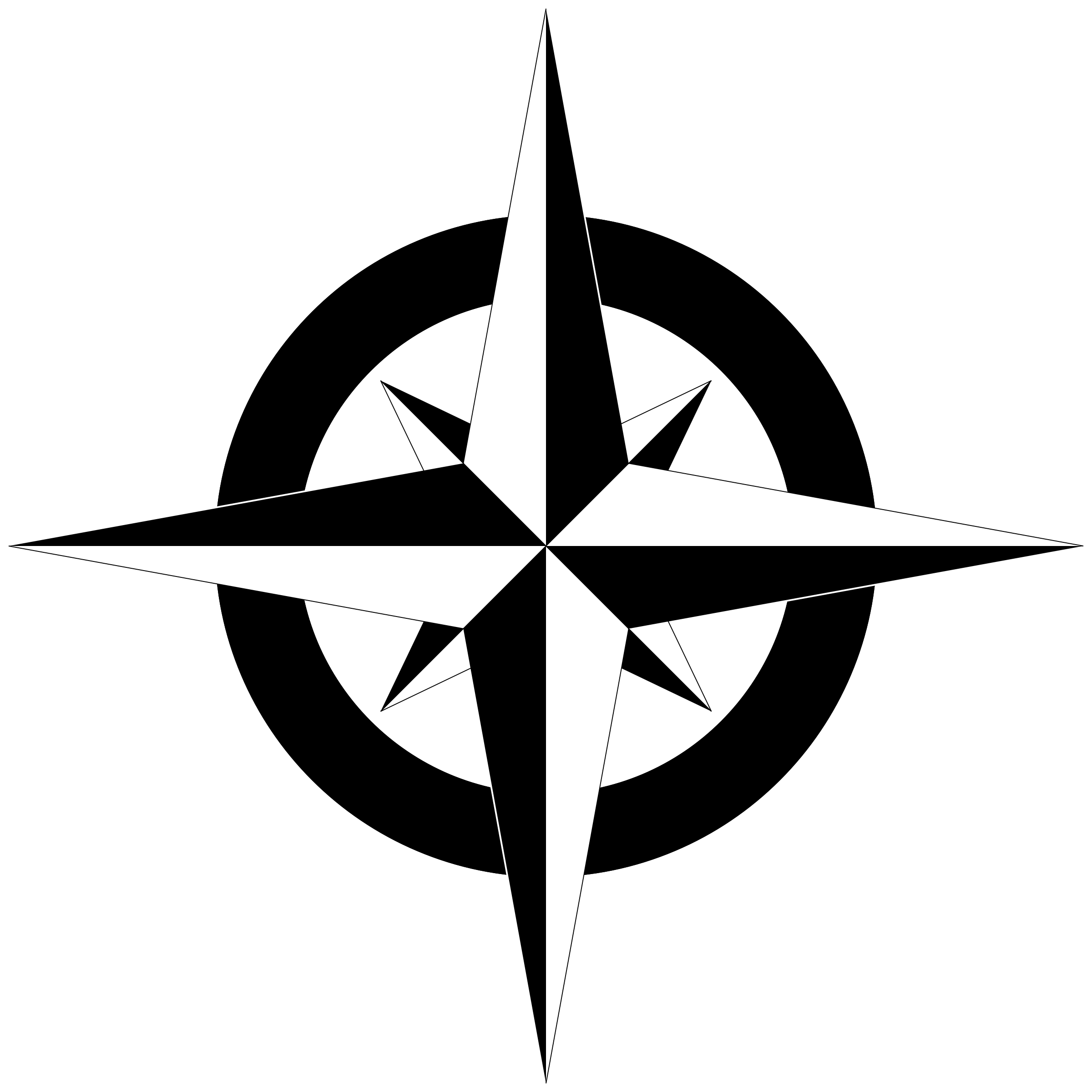 image royalty free download Simple Compass Clipart