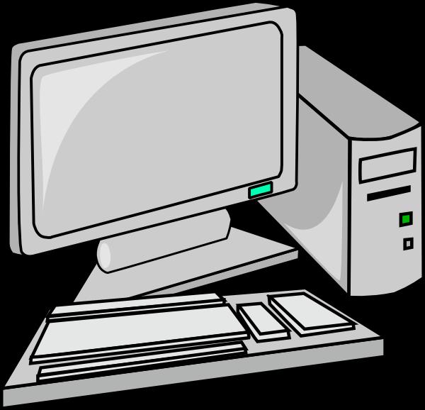 svg free library Desktop clip art clipart. Vector computer black