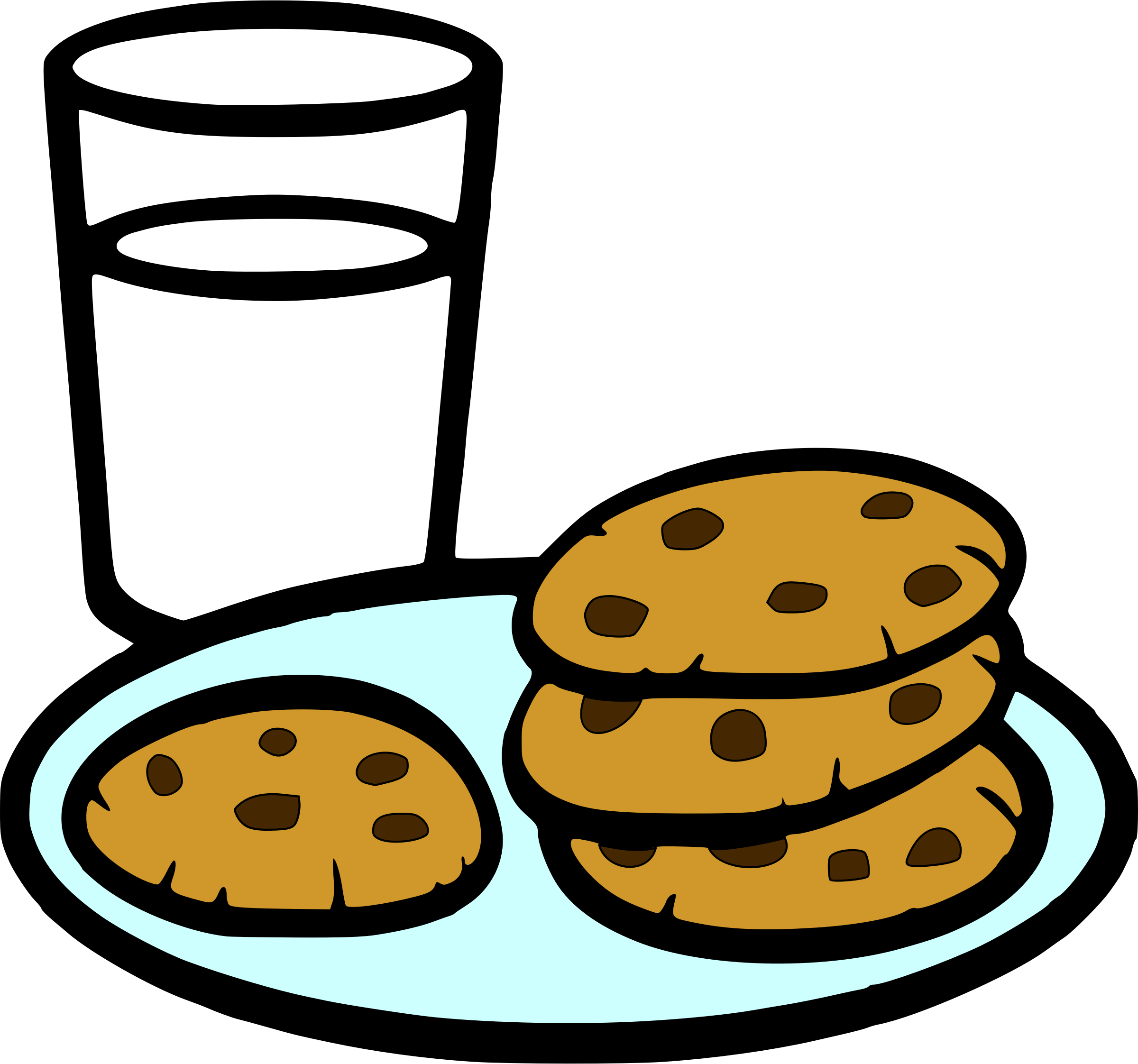 clip transparent library And milk big image. Cookies clipart.