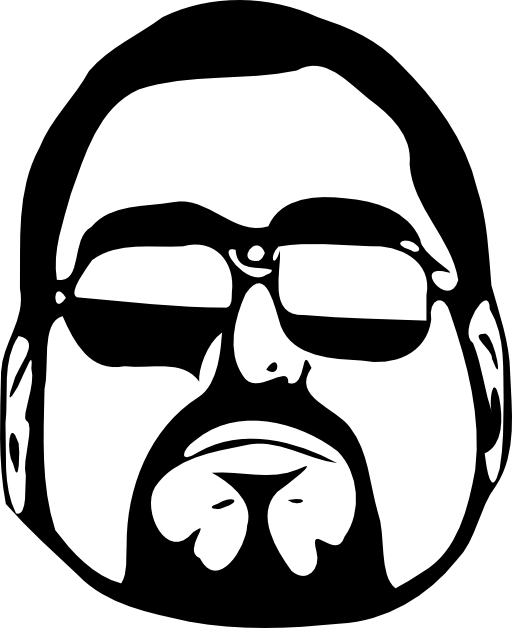 picture black and white stock Guy head i royalty. Clipart cool