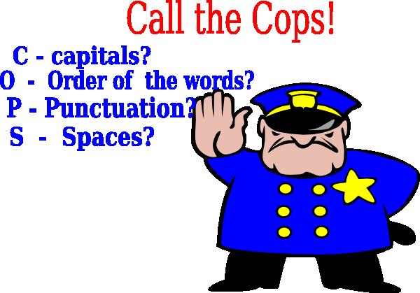 vector freeuse Call the cops clip. Clipart cop