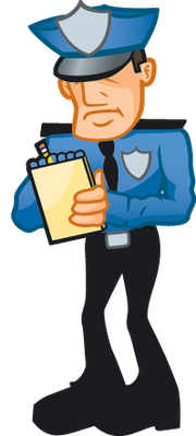 clip library Writing ticket pbs learningmedia. Clipart cop