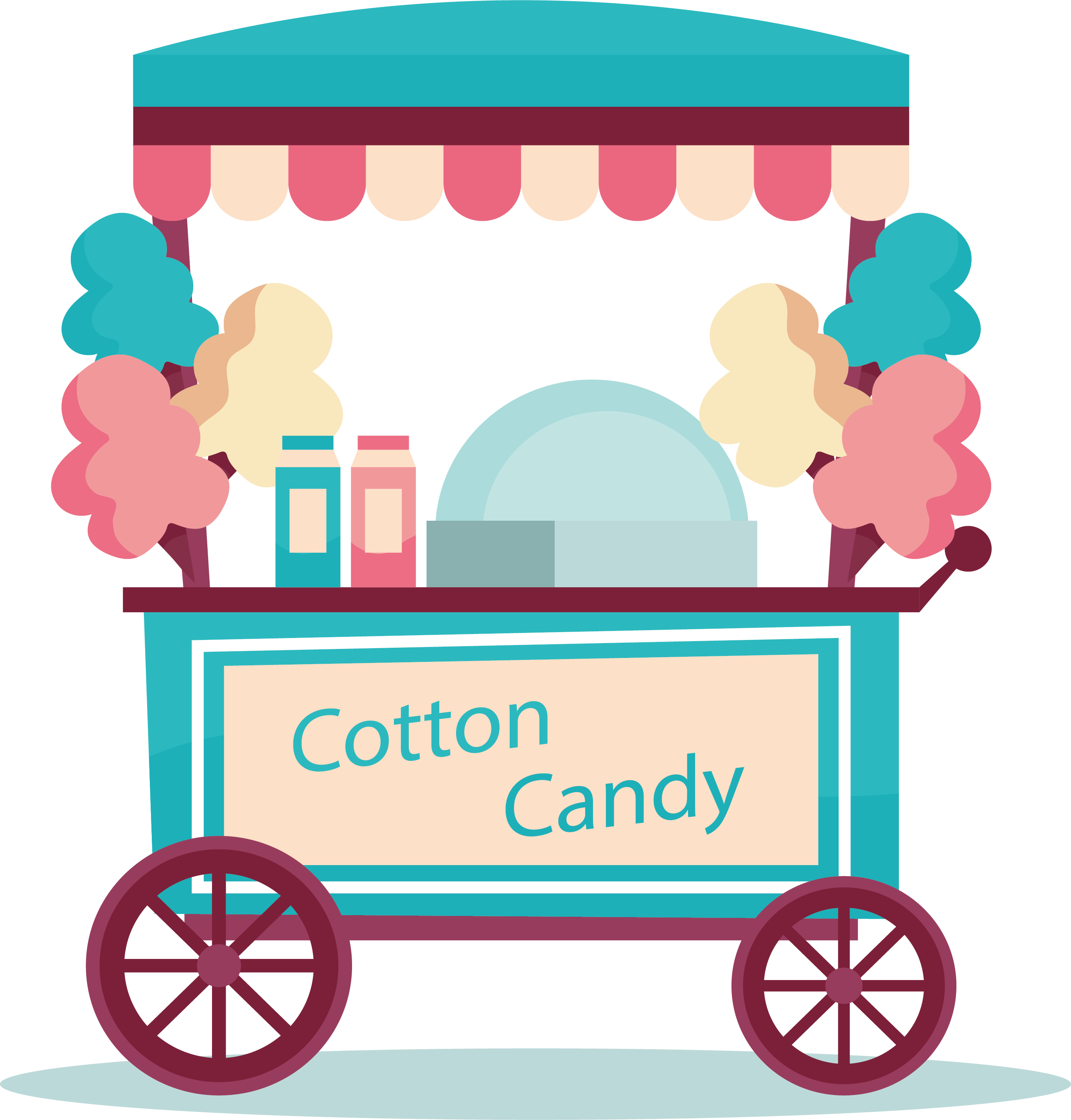 svg library library Cotton cane lollipop sweetness. Vector candy cart