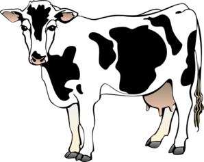 picture royalty free library Cow panda free images. Dairy clipart